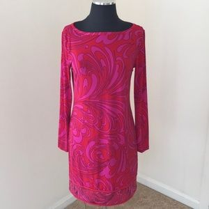 NWT! Michael Kors Size S Red Pink Printed Dress